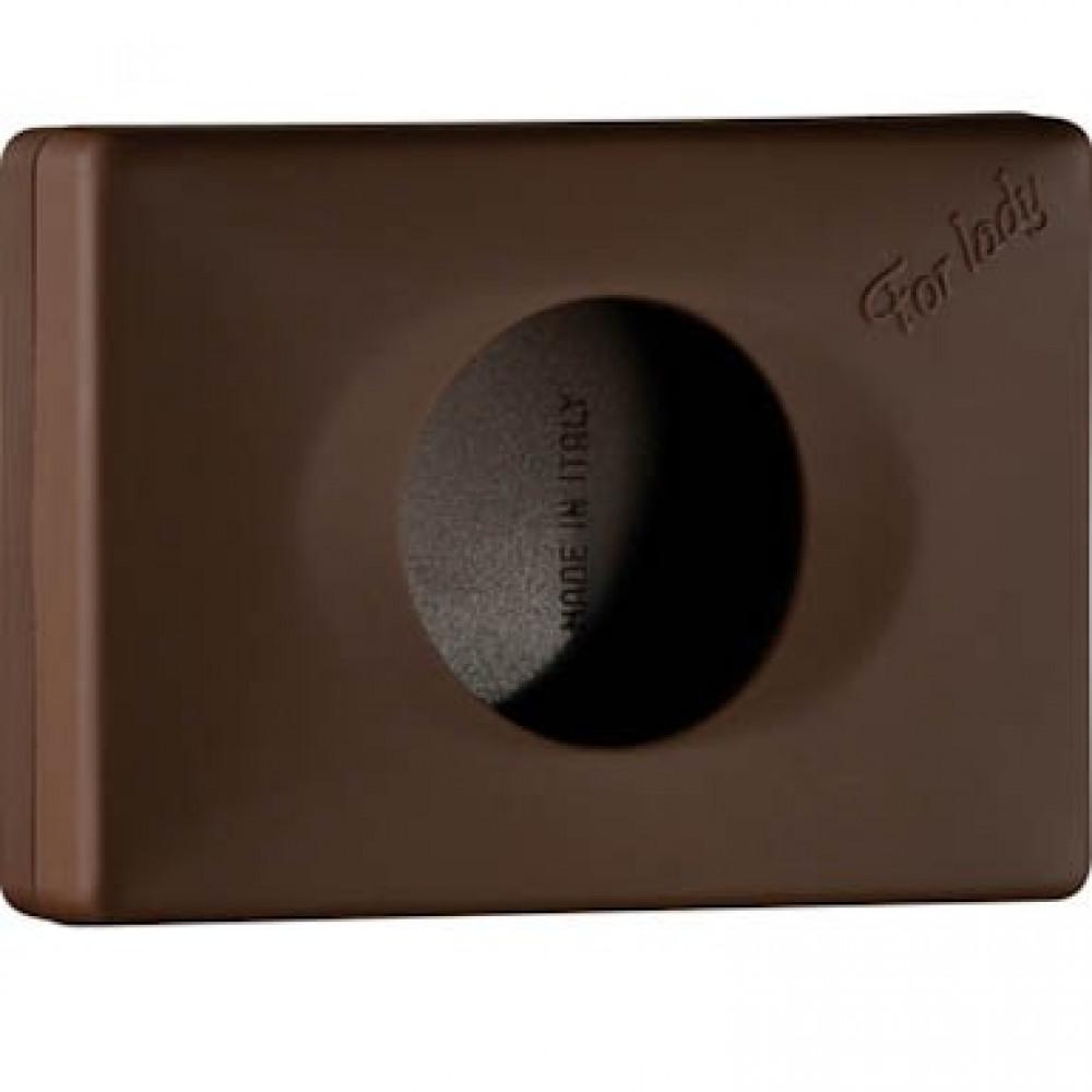 Zásobník na hygienické vrecká COLORED EDITION, hnedý