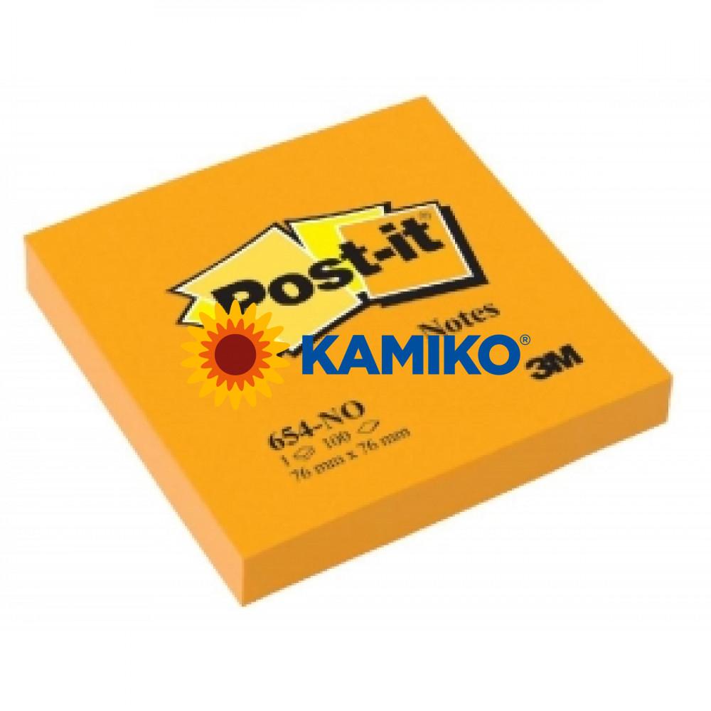 Samolepiaci bloček Post-it 76x76 neon oranžový