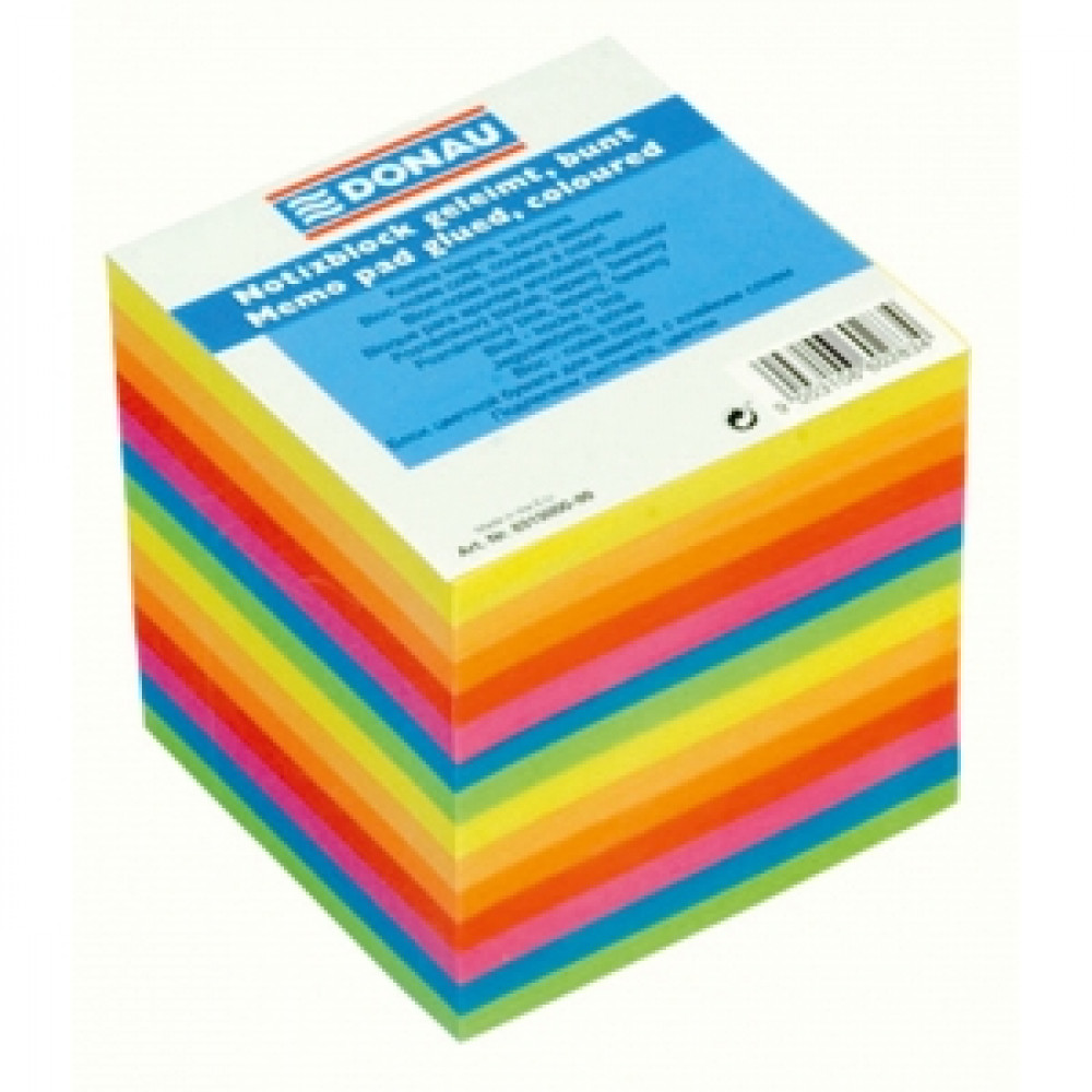 Blok kocka lepená 90x90x90mm farebná