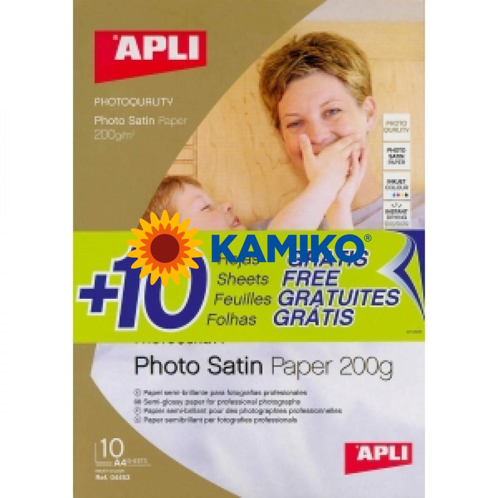 Fotopapier APLI A4 Satin 200g, 20 hárkov