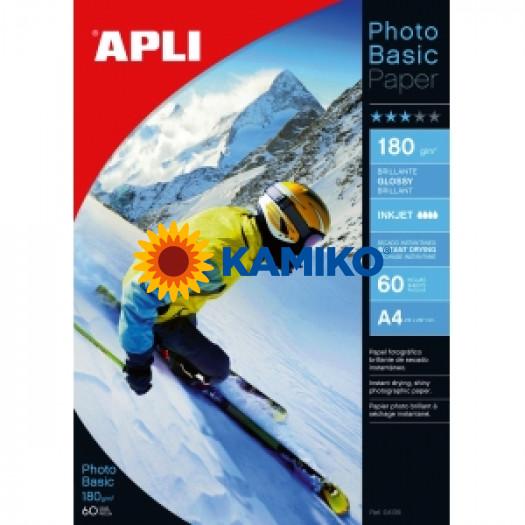 Fotopapier APLI A4 Photobasic lesklý 180g,  60 hárkov
