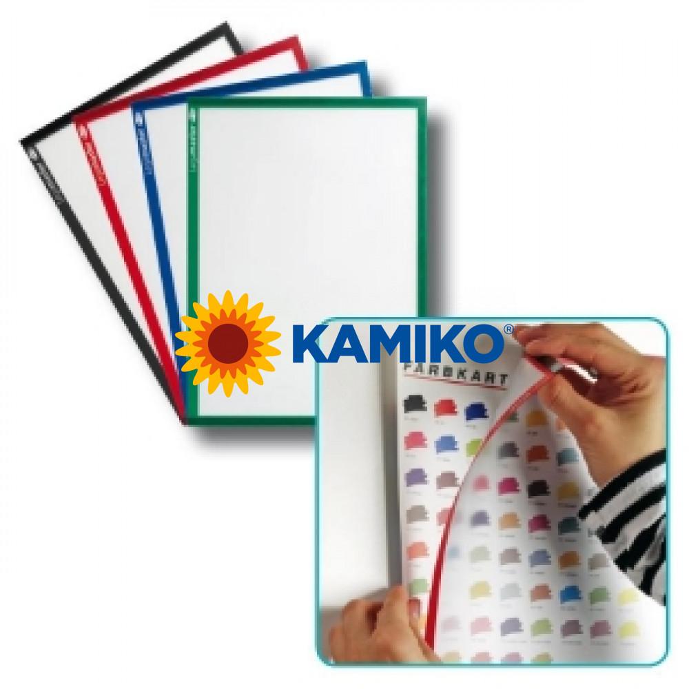 Magnetický držiak dokumentov A4 červený, 5 ks