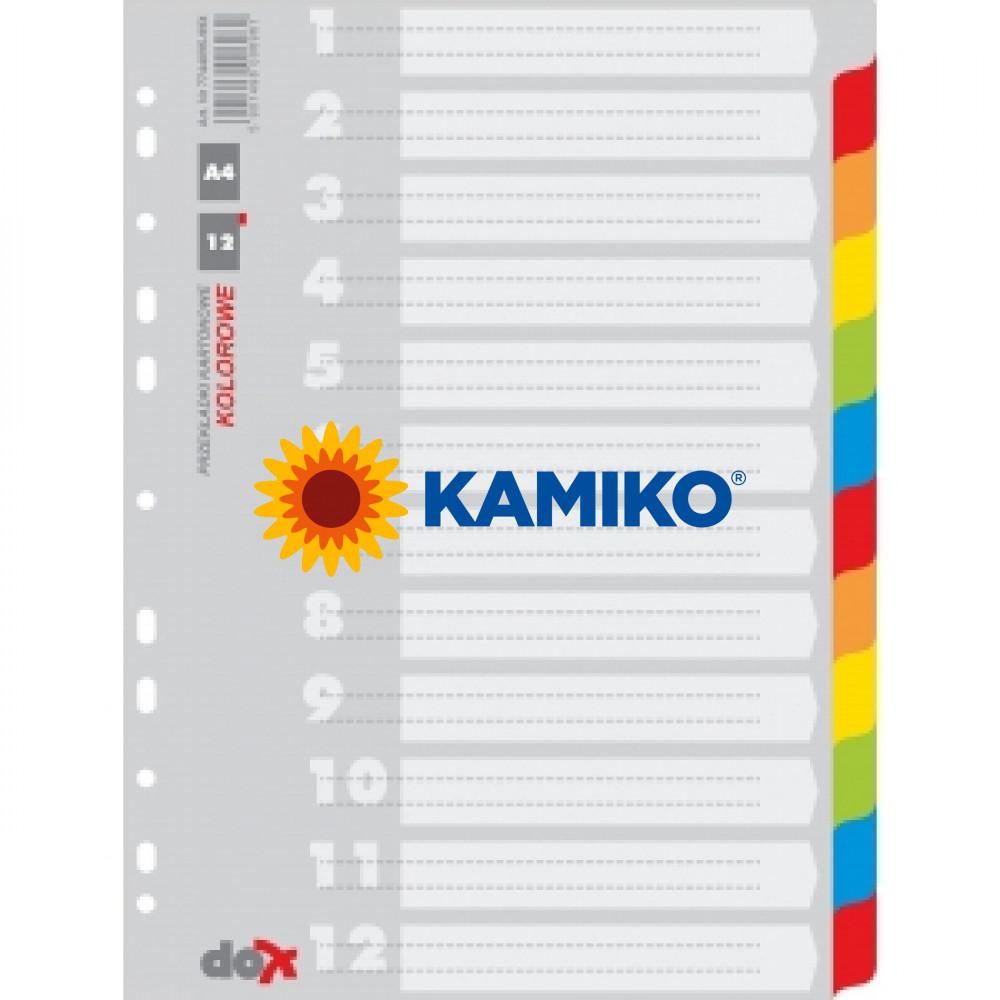Kartónový rozraďovač farebný 12-dielny (7744095-99X)