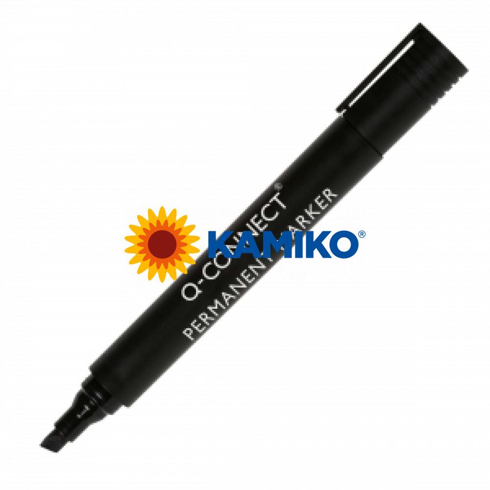 Permanentný popisovač 1,5-3mm zrezaný hrot Q-CONNECT čierny