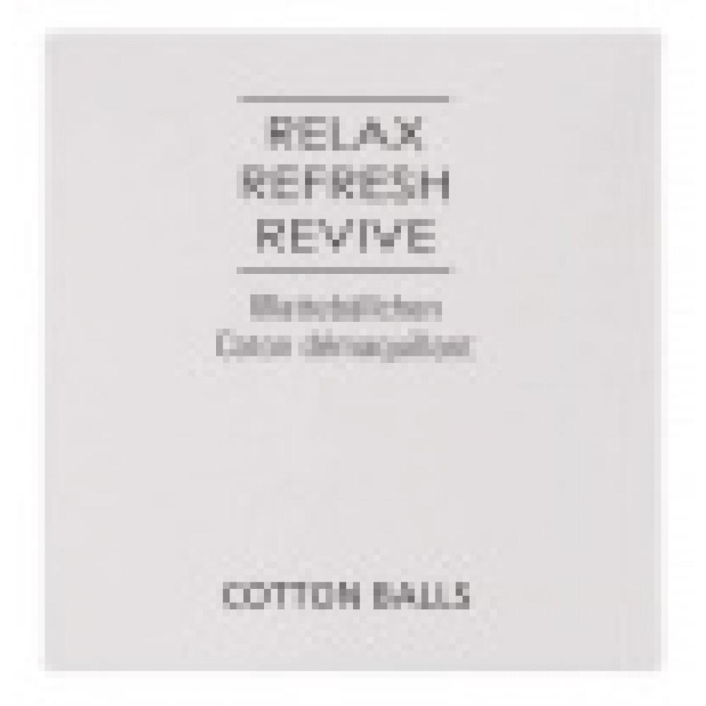 Vatové tampóny a tyčinky Relax Refresh Revive v krabičke
