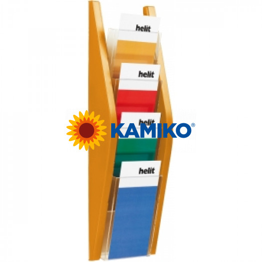 Prezentačný stojan Helit 4 x 1/3 A4 oranžový