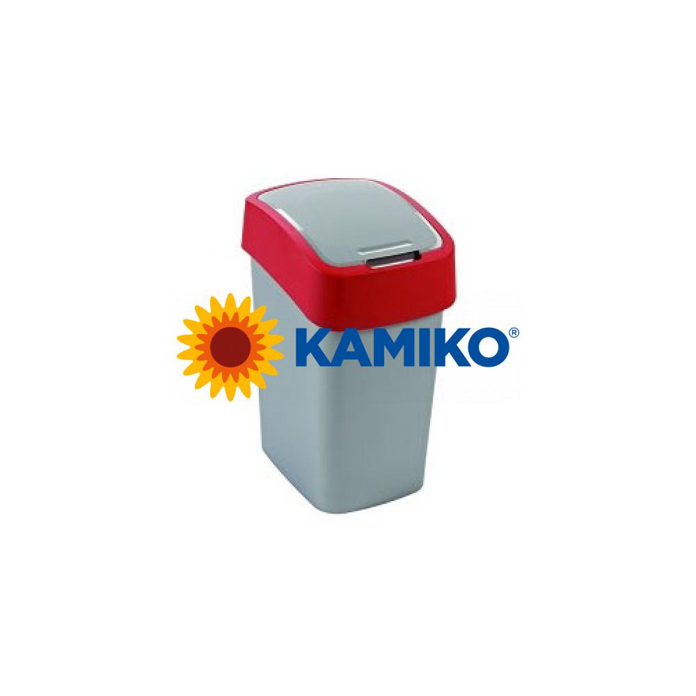 Curver odpadkový kôš Flipbin 10l strieborná/červená