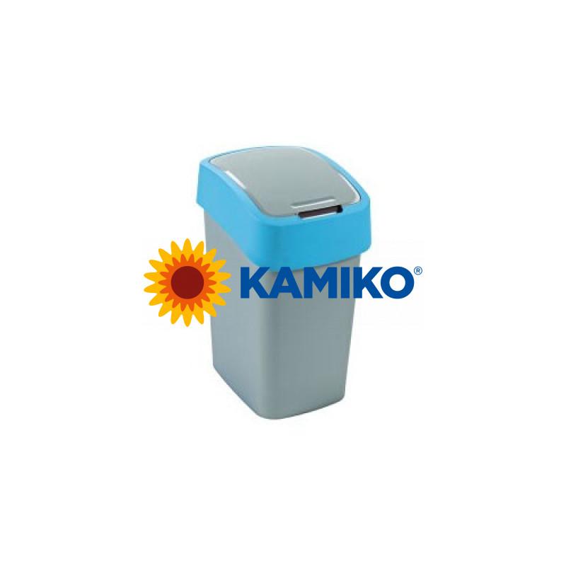 Curver odpadkový kôš Flipbin 50 l strieborná/modrá