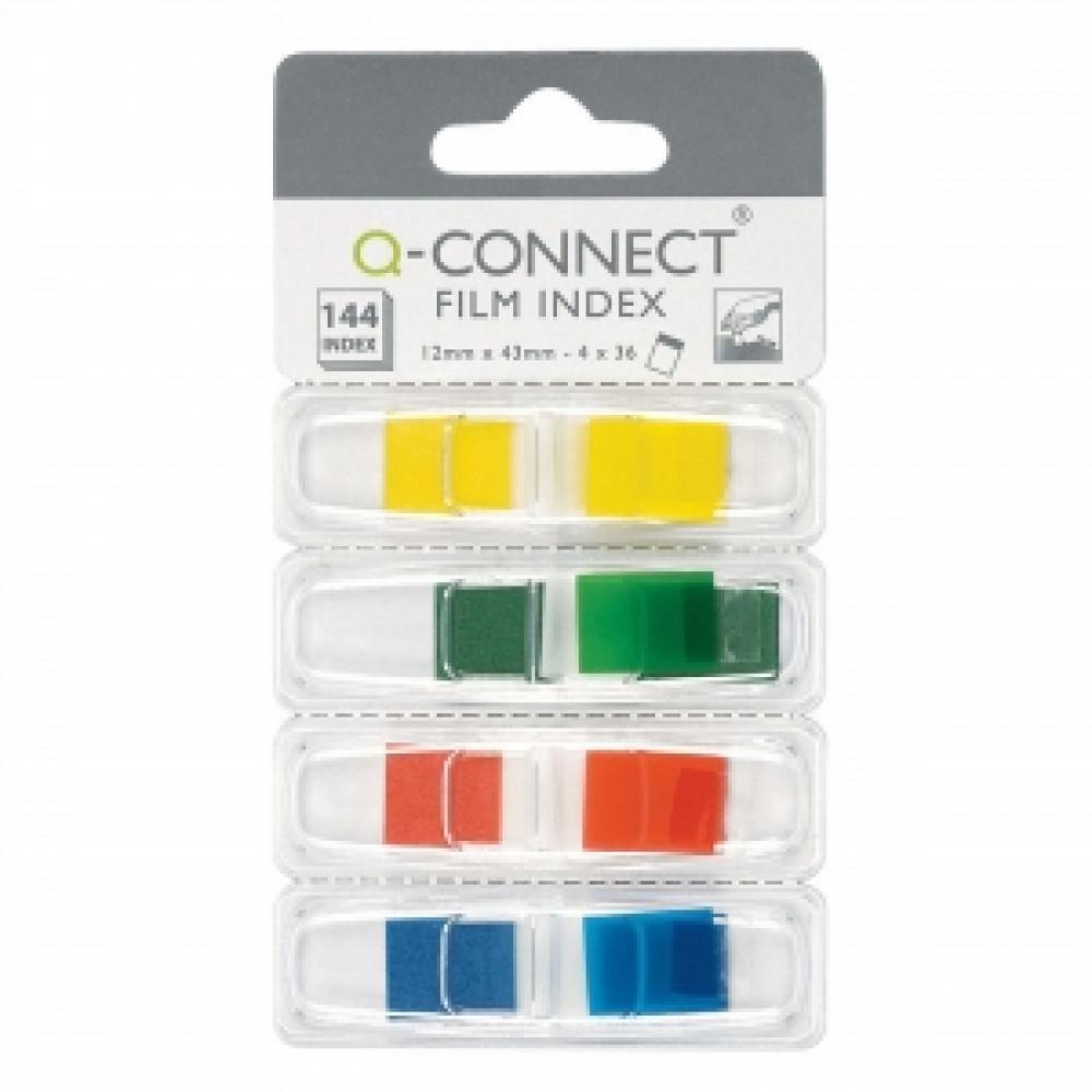 Záložky Q-CONNECT v zásobníku 12,5x43mm, 5x20l