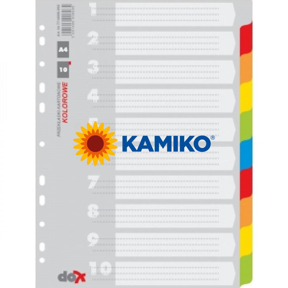 Kartónový rozraďovač farebný 10-dielny (7710095-99X)