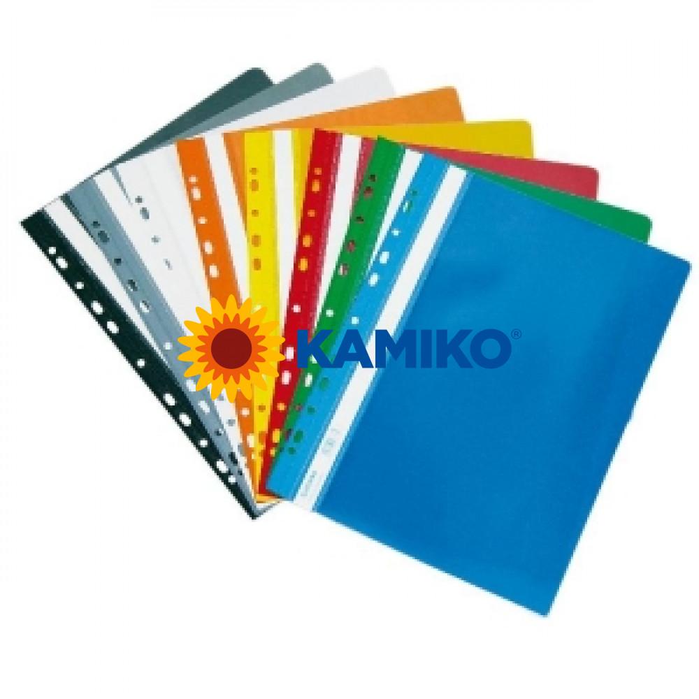 Rýchloviazač PVC s eurodierovaním lesklý modrý