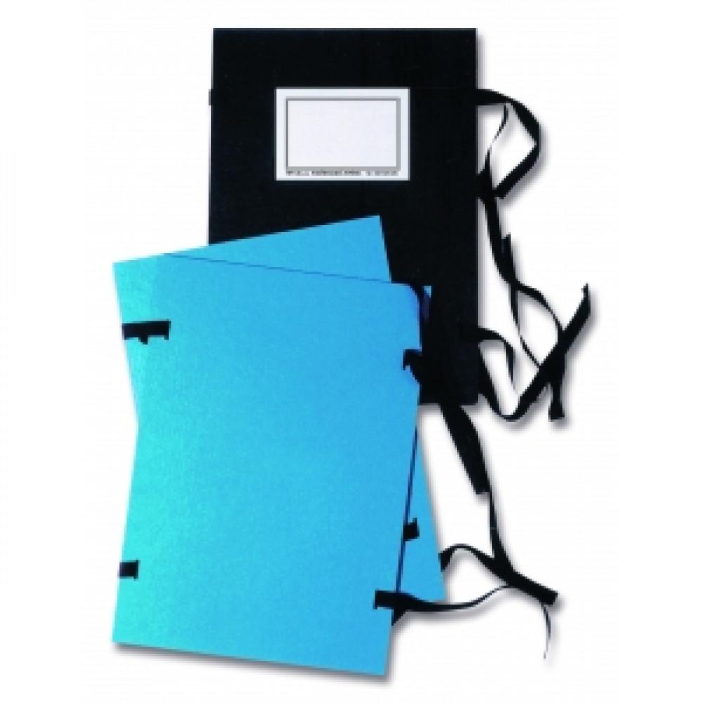 Spisové dosky A4 so šnúrkami a etiketou čierne
