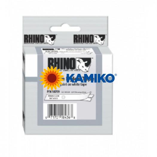 Flexibilná nylonová páska Dymo D1 19mm biela/čierna