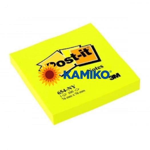 Samolepiaci bloček Post-it 76x76 neon žltý