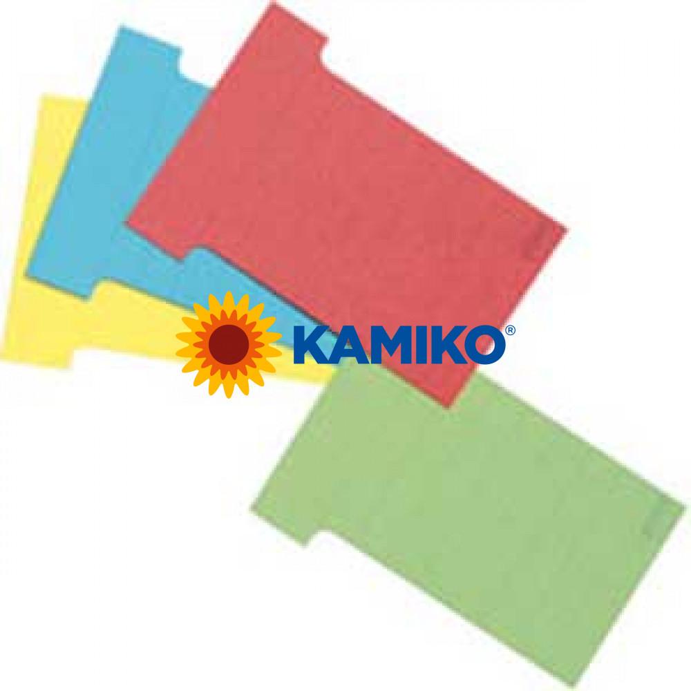 T-karty pre zasúvacie tabule červené 100 ks 83 mm
