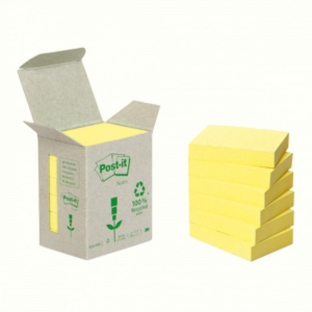 6x653 Samolepiaci bloček Post-it recyklovaný 38x51 žltý