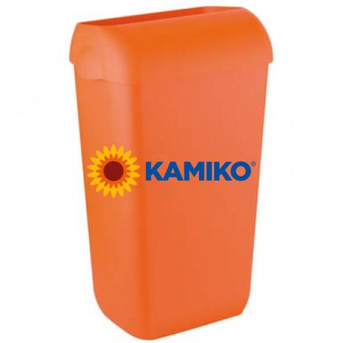 Odpadkový kôš COLORED 23 l s poklopom, oranžový