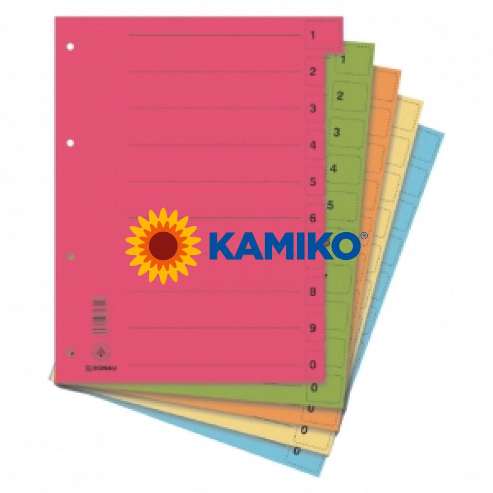 Kartónový rozraďovač odtrhávací mix farieb