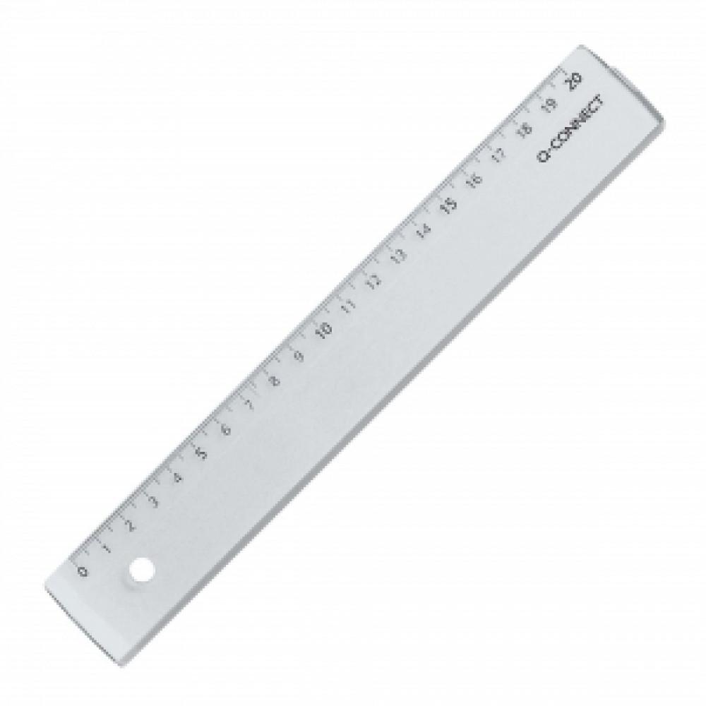 Pravítko 20cm transparentné