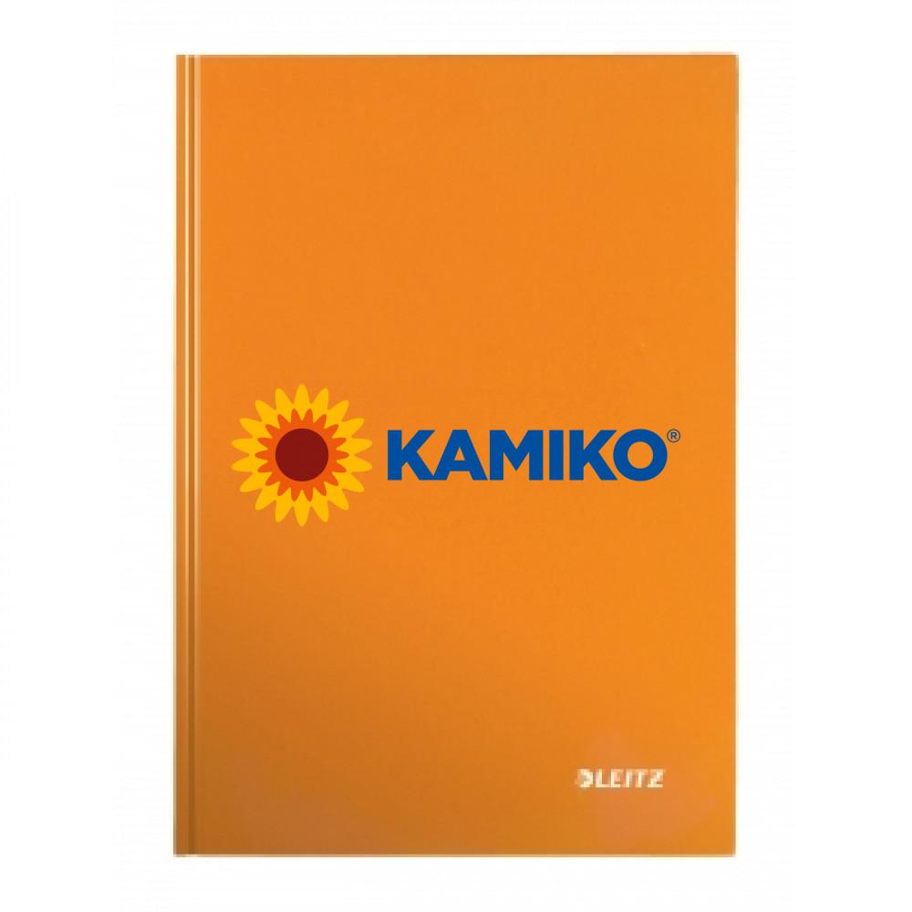 Záznamová kniha linajkovaná A4 80 listov Leitz WOW oranžová