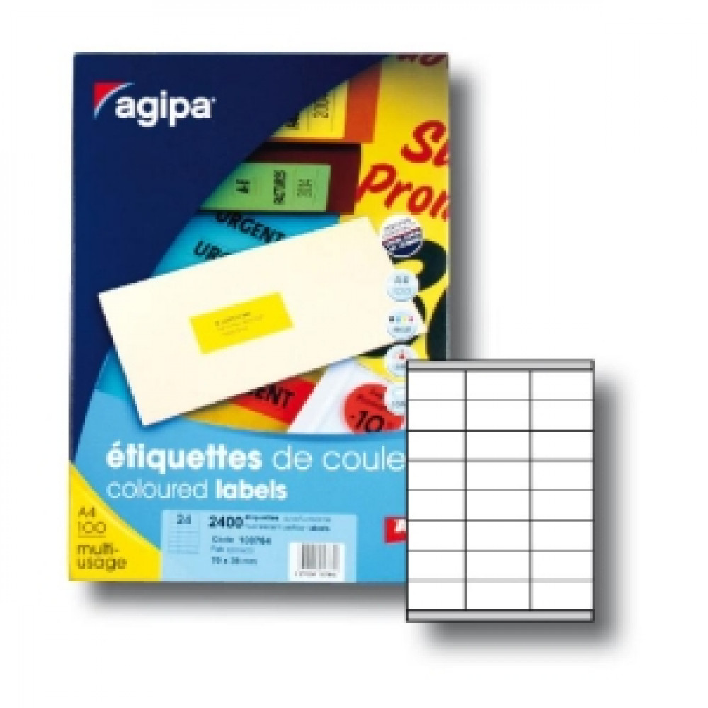 Etikety univerzálne fluo.žlté 70x35mm