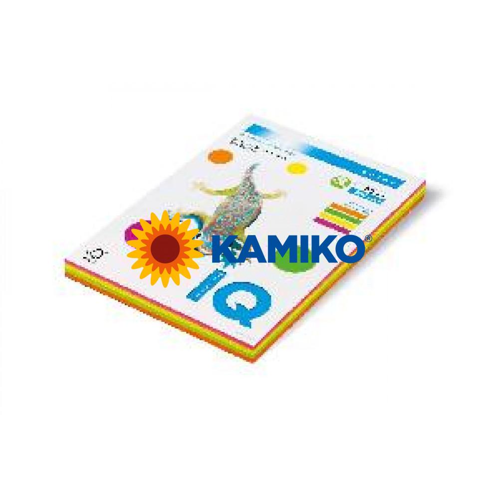 Kopírovací papier 80g A4 IQ color 4x50 mix neónové farby