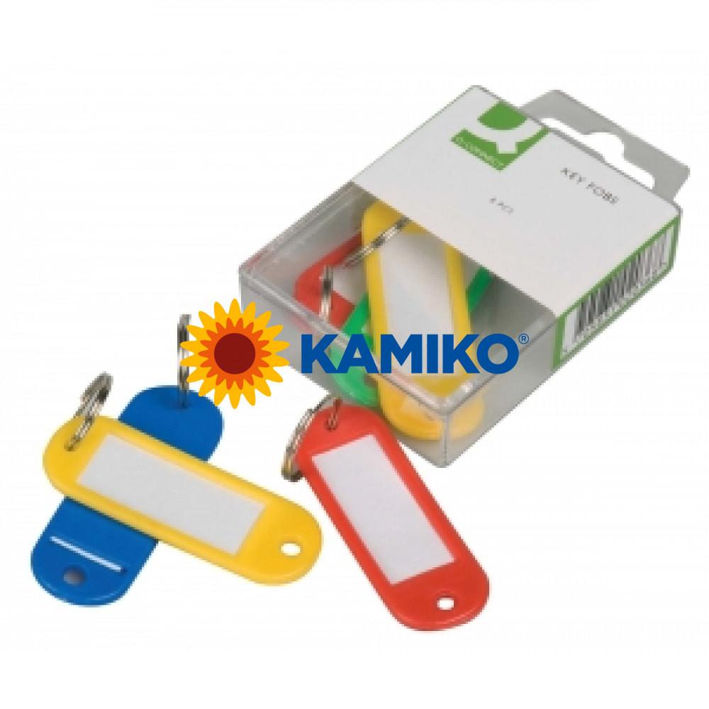 Menovky na kľúčeQ-Connet mix farieb, 6 ks