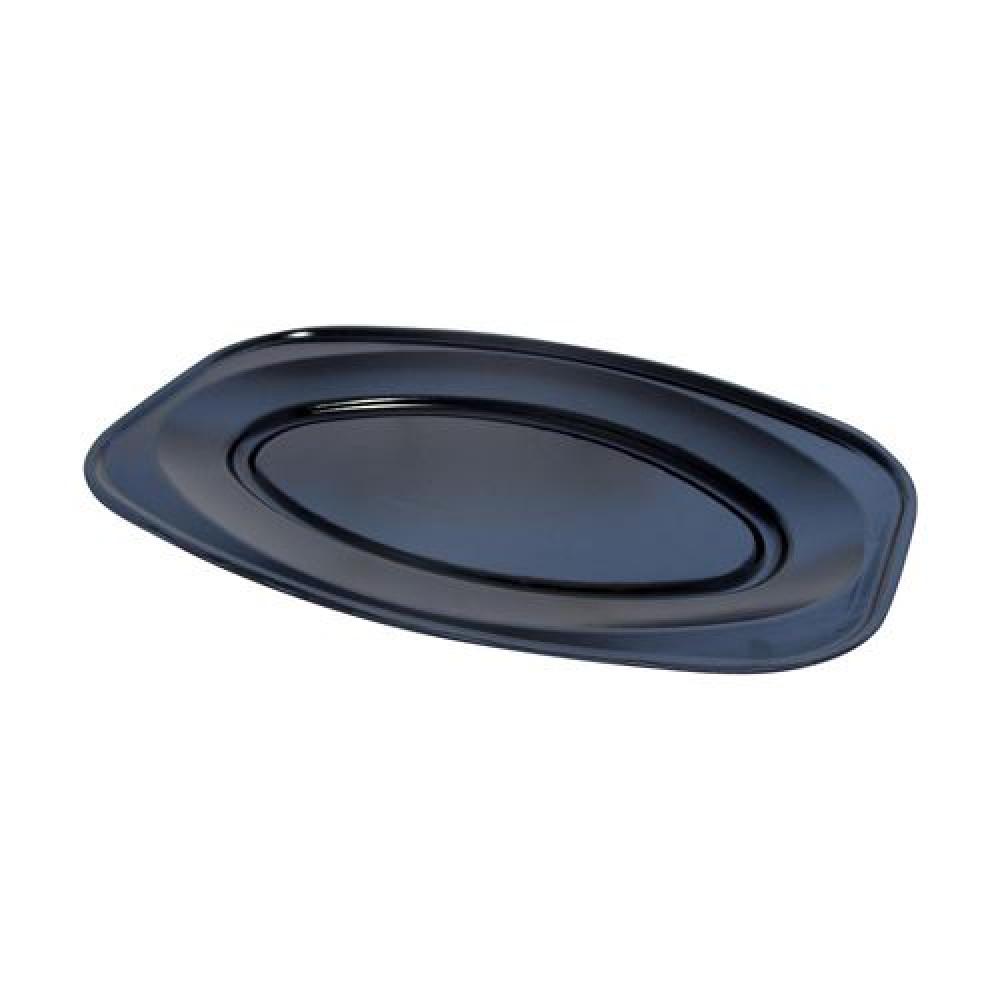 Podnos oválny čierny 35 x 24,7 cm (EPS)