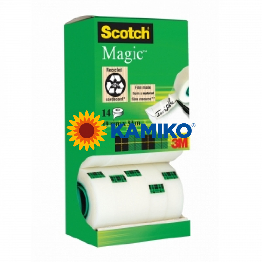 Lepiaca páska Scotch Magic v krabičke 19mmx33m 12+2 zdarma