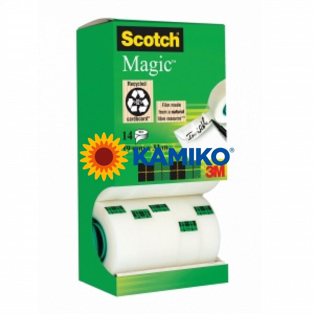 Lepiaca páska Scotch Magic v krabičke neviditeľná 19 mm x 33 m AKCIA 12 ks +2 ks zdarma