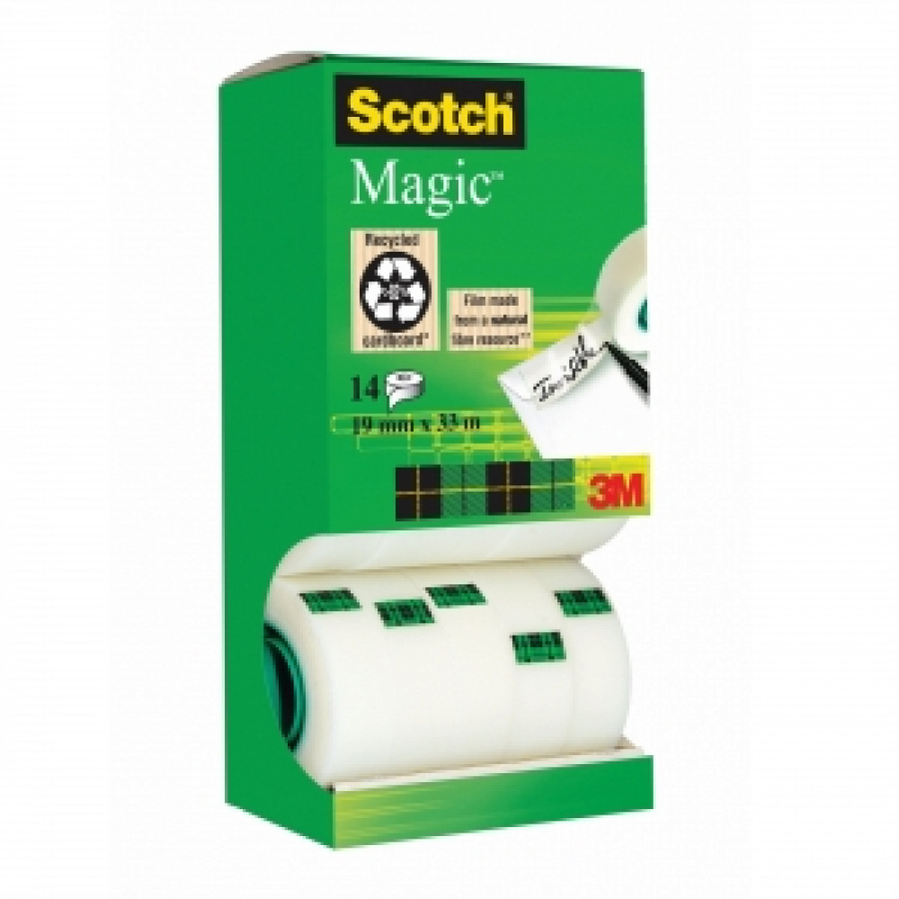 Lepiaca páska Scotch Magic v krabičke 19mmx33m 12+2 zdarma