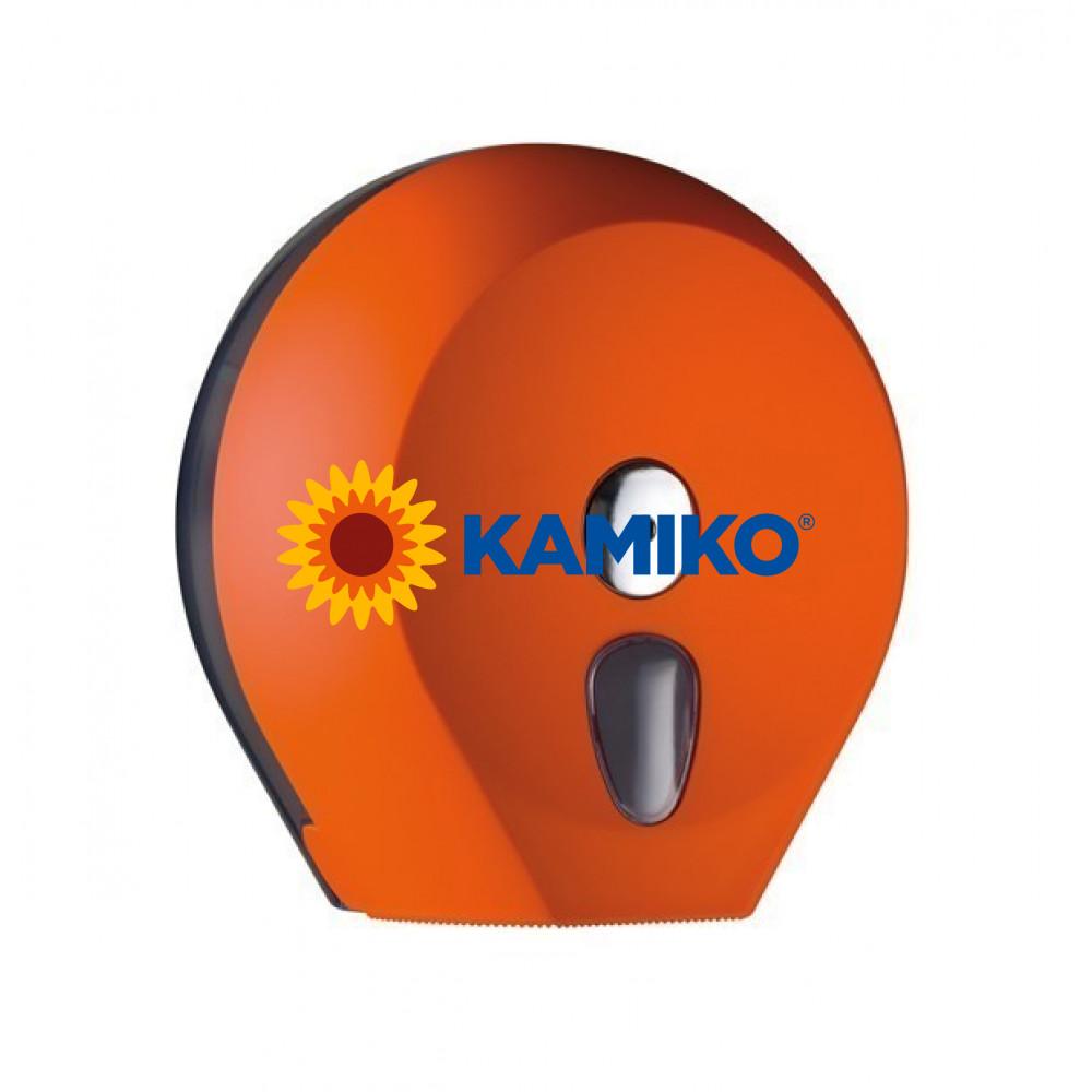 Zásobník toaletného papiera COLORED Jumbo 23 cm, oranžový