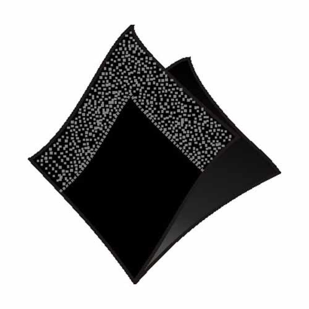 Servítky koktejlové 24 x 24 cm, 2 vrstvy, čierne