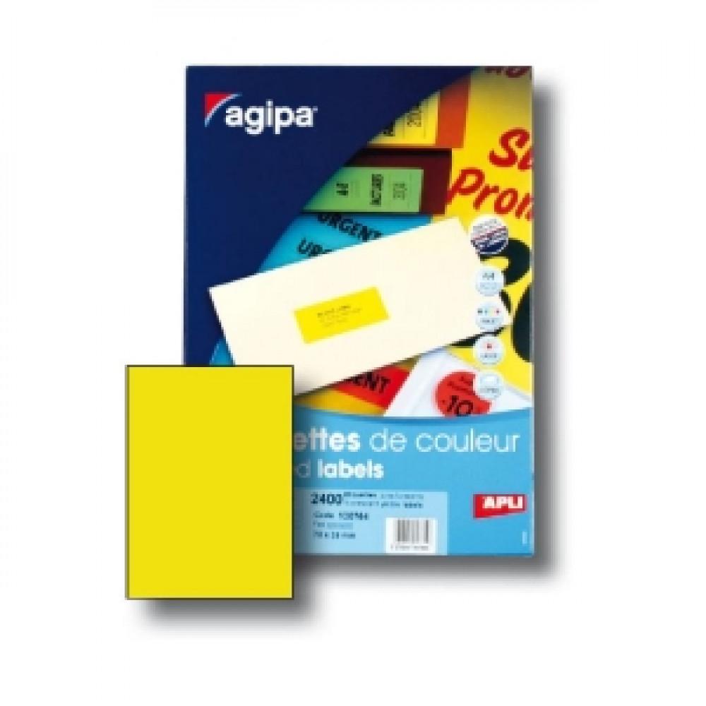 Etikety univerzálne fluo.žlté A4