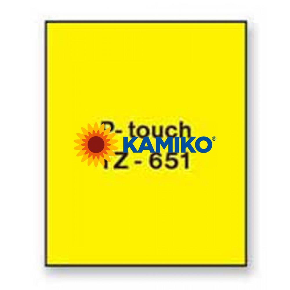 TZe-651 Páska 24mm žltá/čierna