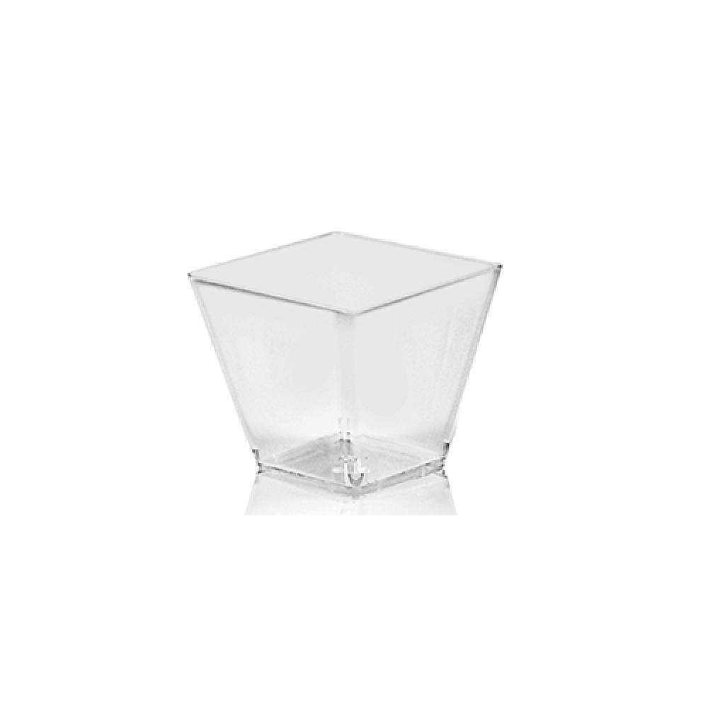 Fingerfood pohárik hranatý číry - 60 ml