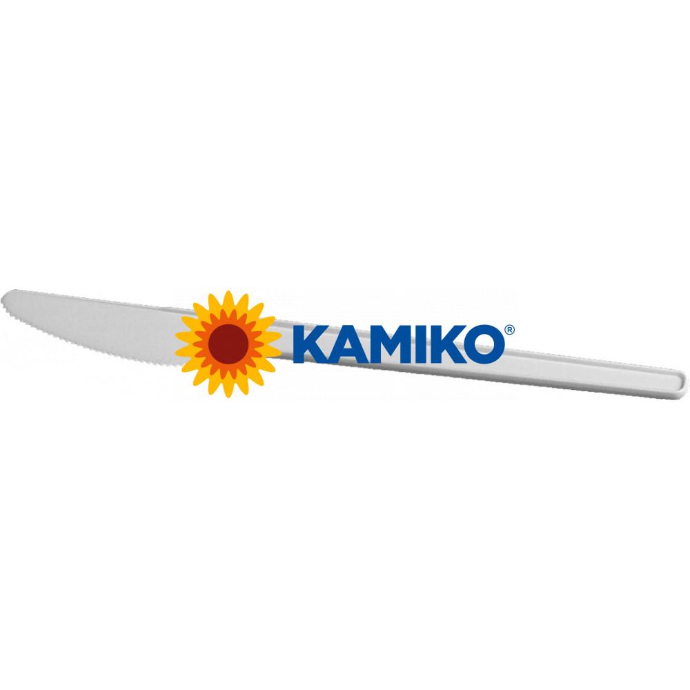 Nôž plastový biely 17cm