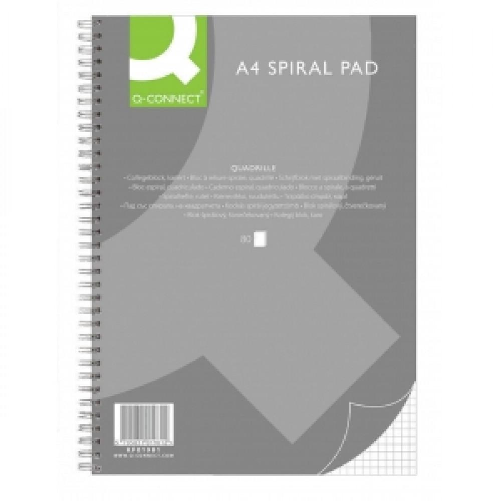 Kancelársky blok Q-Connect A4,80 listov,štvorčekový (KF01981