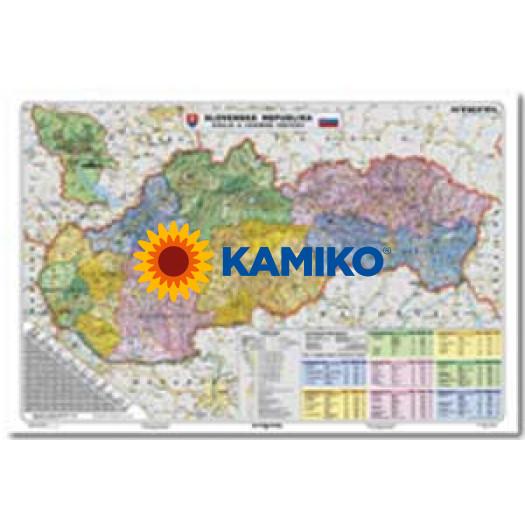 Mapa Slovensko-Kraje a územné obvody