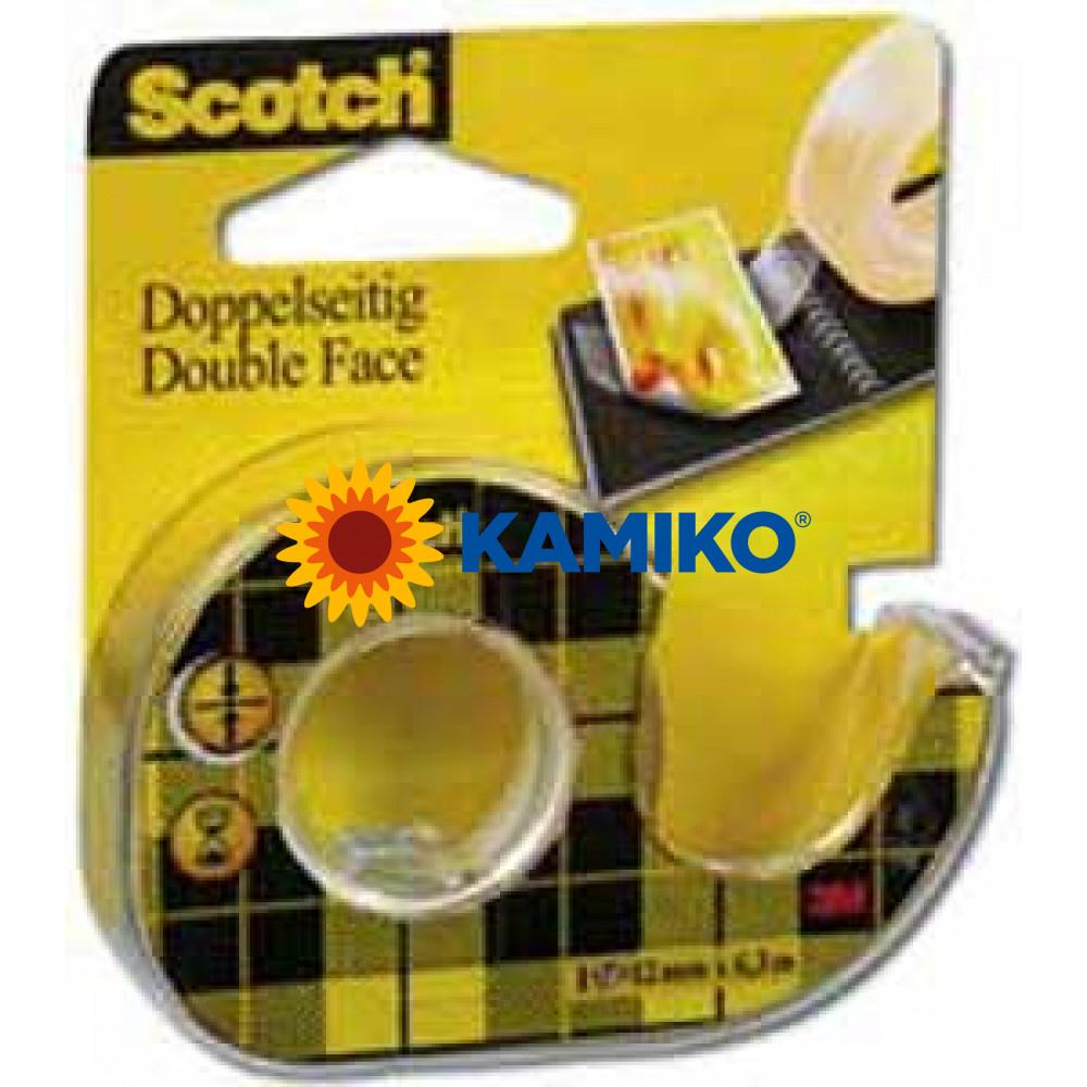 Lepiaca páska Scotch obojstranná s dispenzorom 12 mm x 6,3 m