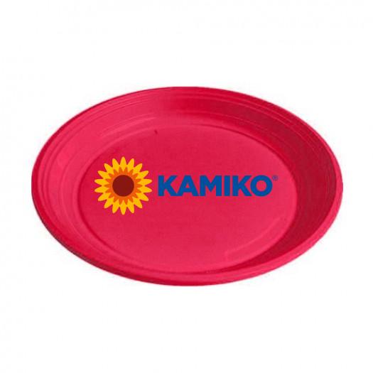 Plastový tanier magenta 22 cm (PS)