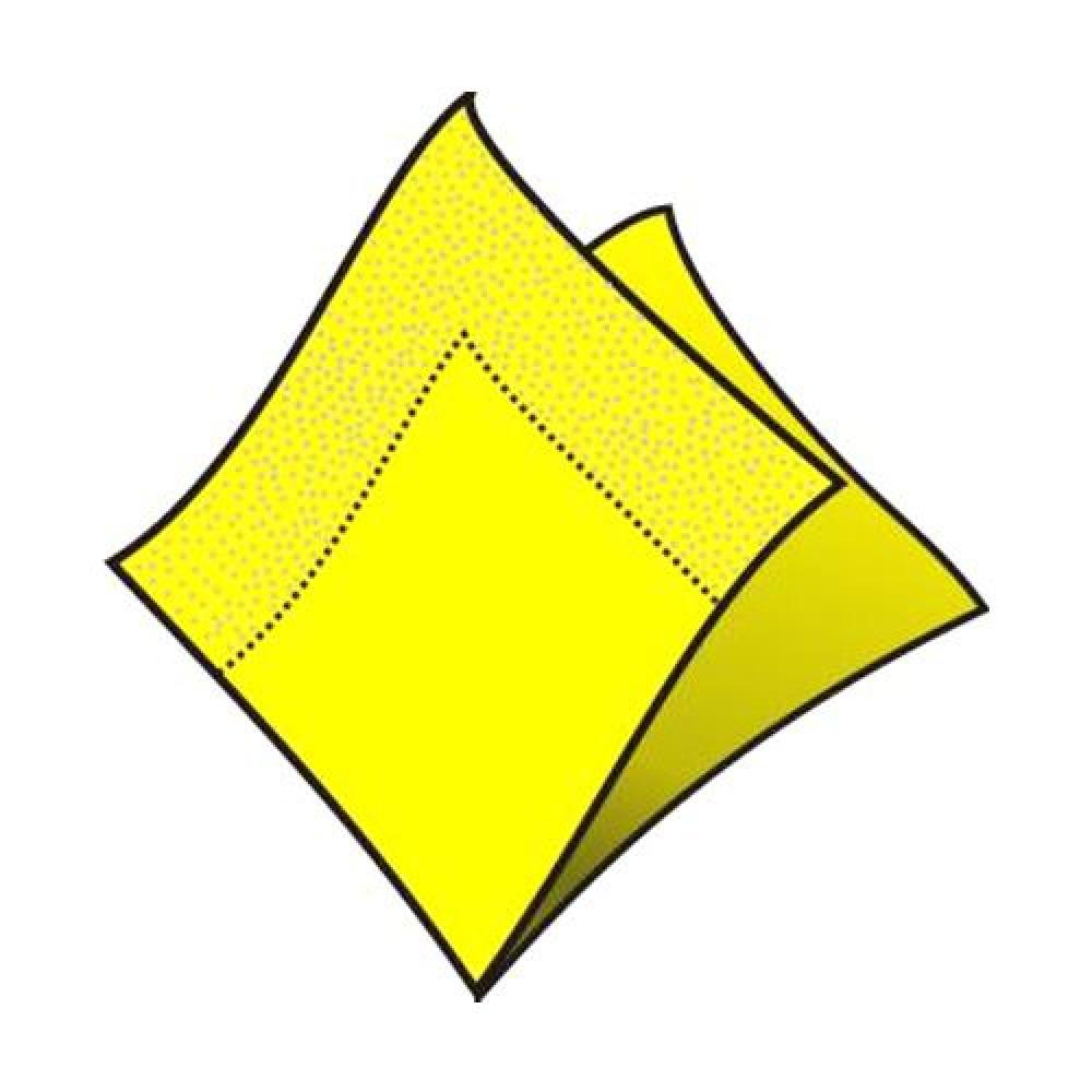 Servítky koktejlové 24 x 24 cm, 2 vrstvy, žlté