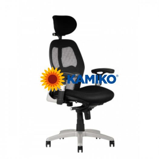 Kancelárska stolička SATURN NET čierna