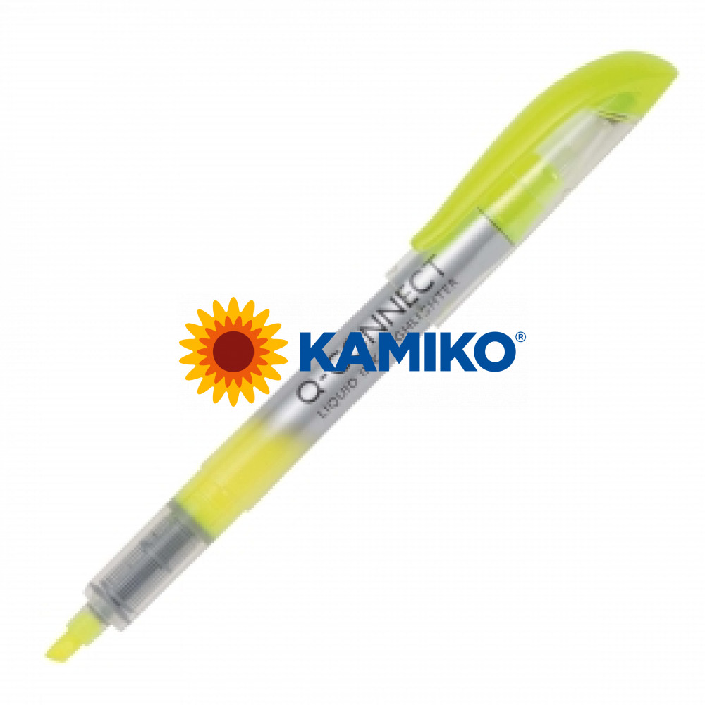 Zvýrazňovač Q-CONNECT liquid ink žltý