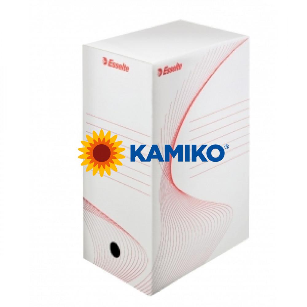Archívny box 150mm Esselte biela/červená