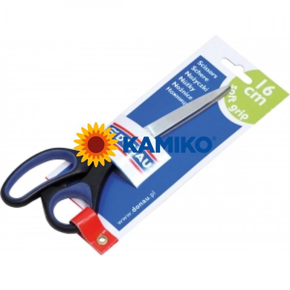 Nožnice Soft grip 16,5cm modré Donau