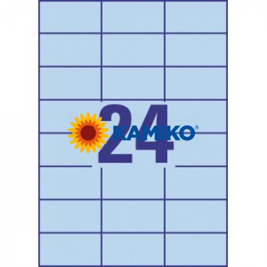 Etikety farebné 70x37 mm Avery A4 modré, 100 listov