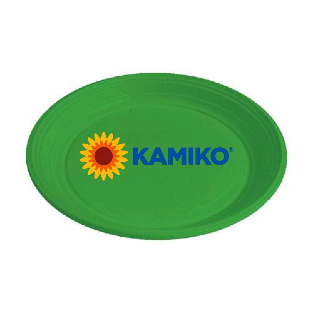 Plastový tanier zelený 22 cm (PS)