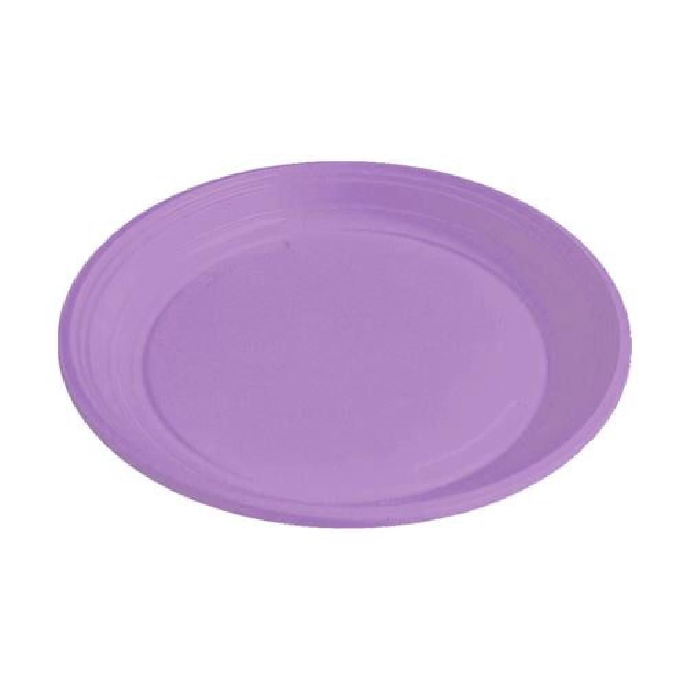 Plastový tanier svetlofialový 22 cm (PS)