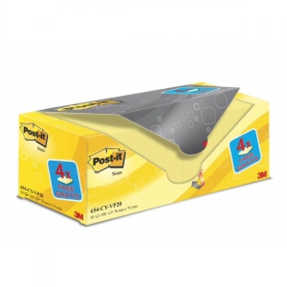 20x654 Samolepiaci bloček Post-it 76x76 žltý